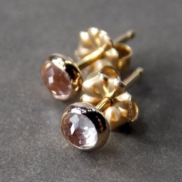 Cyllene Jewelry white topaz and 14k gold studs