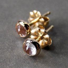 Cyllene Jewelry white topaz and 14k gold studs