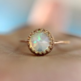 Louisa Gallery opal and 14k gold ring