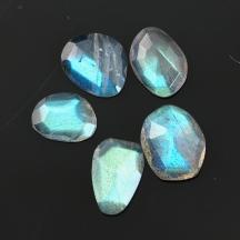 Labradorite Rose Cut Freeform Set, 8.485 carats (tcw), 9-10.5mm, $18.70