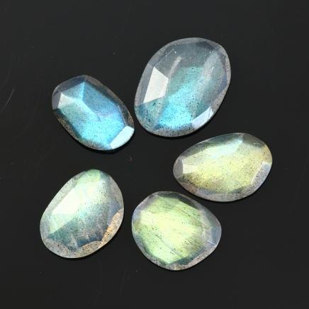 Labradorite Rose Cut Freeform Set, 8.935 carats (tcw), 10-12.5mm, $19.65