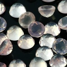 Joopy Gems 6mm rose cut rose quartz
