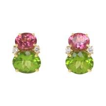 Caroline Nelson Pink Tourmaline and Peridot earrings, $4000