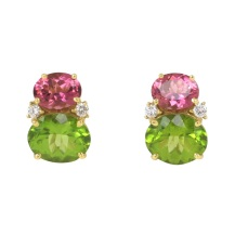 Caroline Nelson Pink Tourmaline and Peridot earrings, $4000