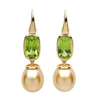 David Precious Gems Peridot and South Sea pearl earrings, $5800