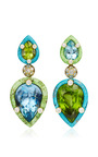 Nicholas Varney Aquamarine, Peridot, Diamond, Gaspeite And Turquoise Duo Earrings, $67,800