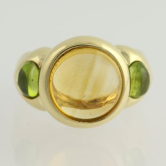 Wilson Brothers Citrine and Peridot cocktail ring, $639.99