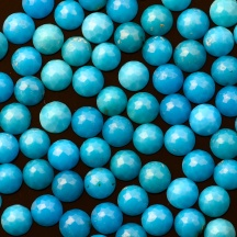4mm rose cut round turquoise