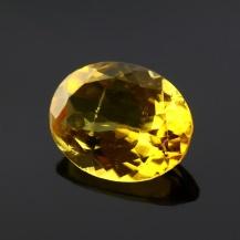 Yellow Tourmaline Oval, 1.435 carats, 9x7x3.7mm, $109