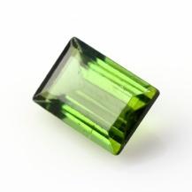 Green Tourmaline Rectangle, 1.4 carats, 8.4x5.7x3.4mm, $106