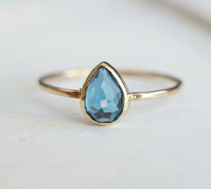 Luxuring London Blue Topaz Ring, $205