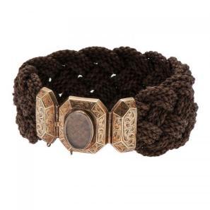 Georgian Woven Hair Bracelet in Gold