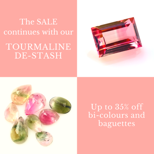Joopy Gems Tourmaline De-stash sign