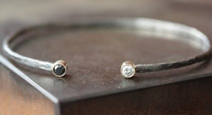 Lex Luxe black and white diamond bracelet