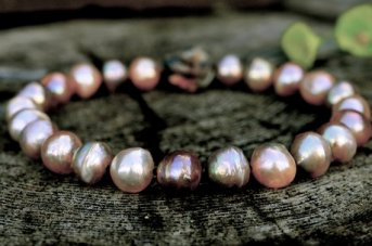 Coloured Pearl Choker, Freshwater Creation, $850
