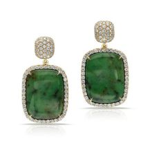 Pamela Huizenga Hydrogrossular Garnet & Diamond Earrings