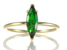 David J Thomas Tsavorite Garnet and 18k Gold Ring