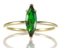 David J Thomas Tsavorite Garnet and 18k Gold Ring
