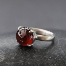William White Hessonite Garnet and Sterling Silver Ring