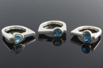 Eva Dorney London Blue Topaz Rings, $305
