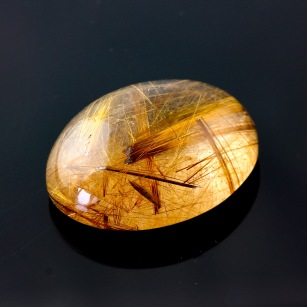 Joopy Gems Golden Rutilated Quartz Cabochon Freesize, 55.81 carats, 29.5x23.2x11.3mm