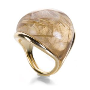 Fernando Jorge Rounded Rutilated Quartz Ring