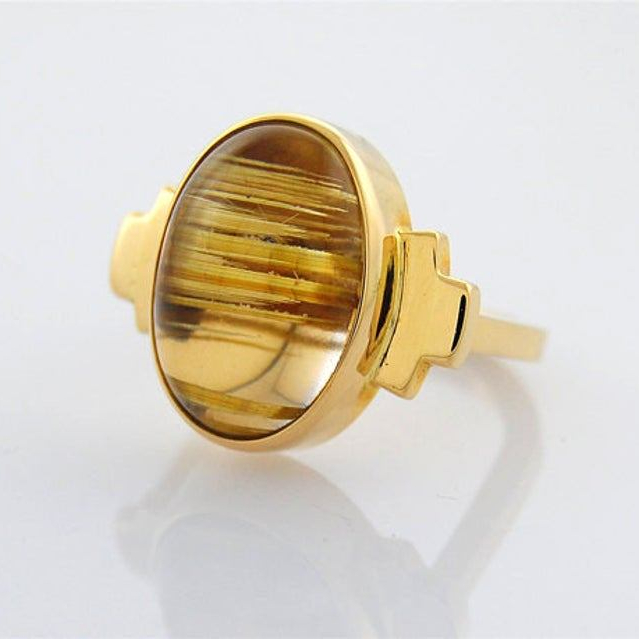 Sasa Jewelry Rutilated Quartz Ring