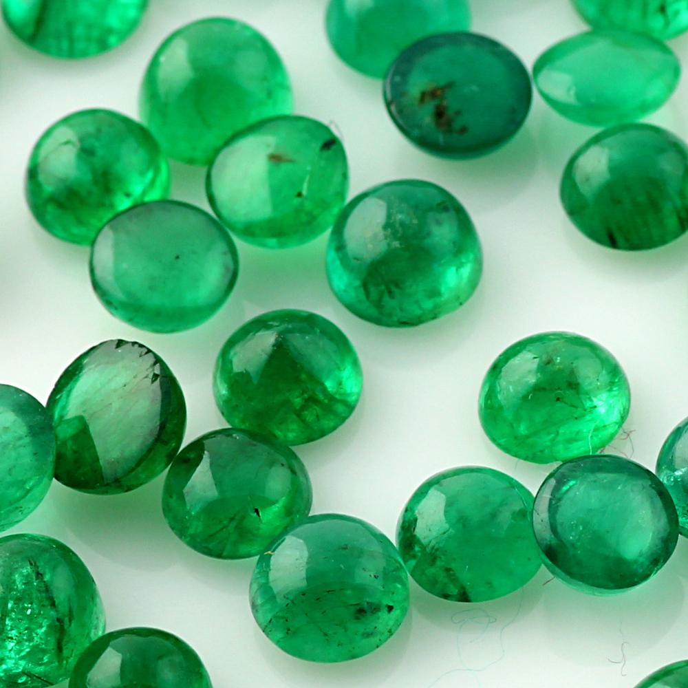 Joopy Gems Emerald Cabochon 4mm Round