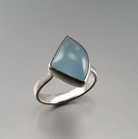 Gemory Design Aquamarine and Sterling Silver Ring, $201