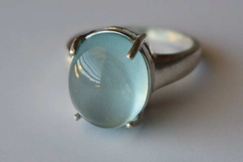 Gems Berry Aquamarine and Sterling Silver Ring, $273