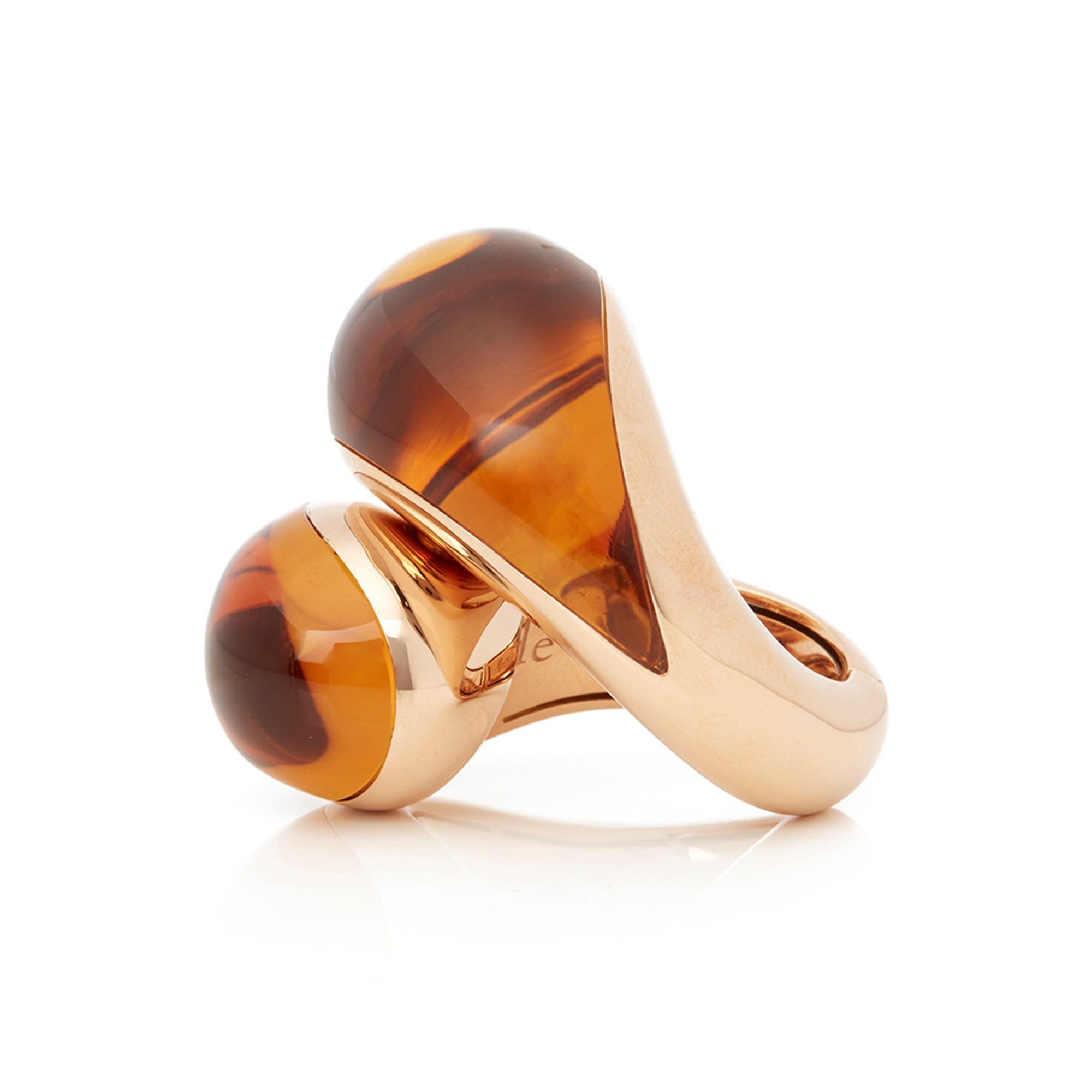de Grisogon 18k Gold and Citrine Ring