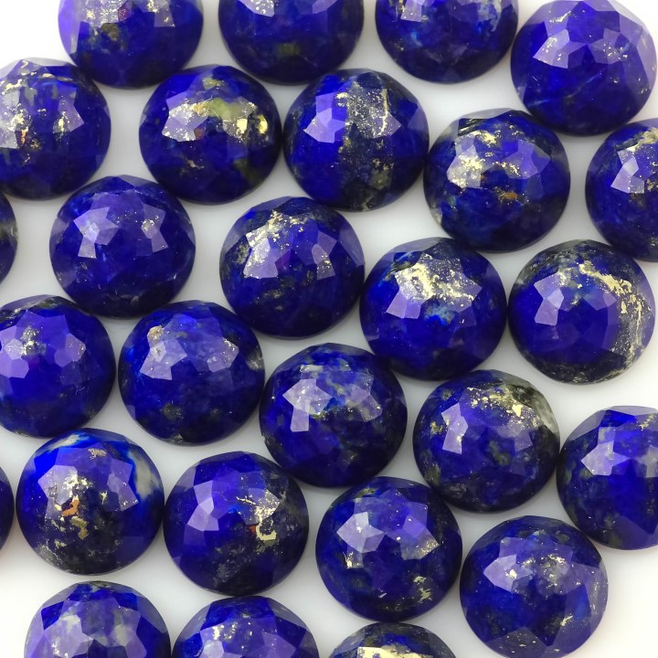 Lapis Lazuli Rose Cut Cabochon 8mm Round