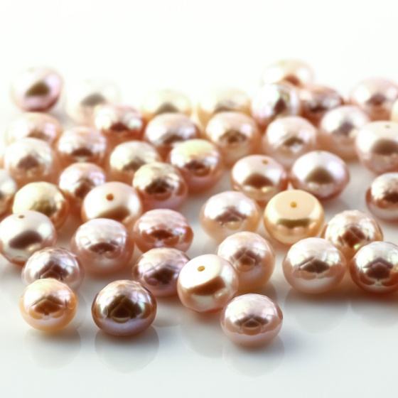 Joopy Gems Rose Cut Purple Button Pearl 8mm