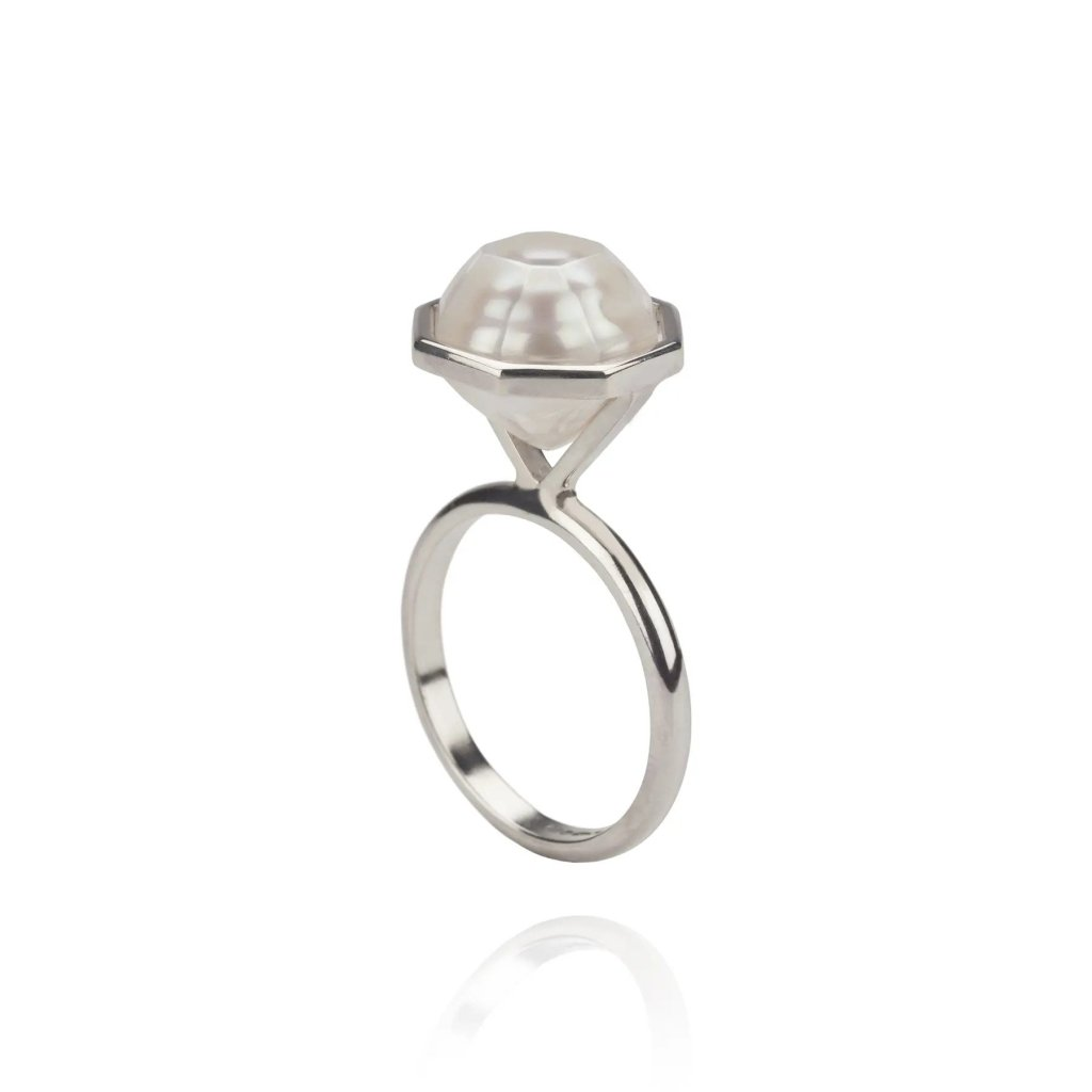 Melanie Georgacopoulos Faceted Pearl Ring