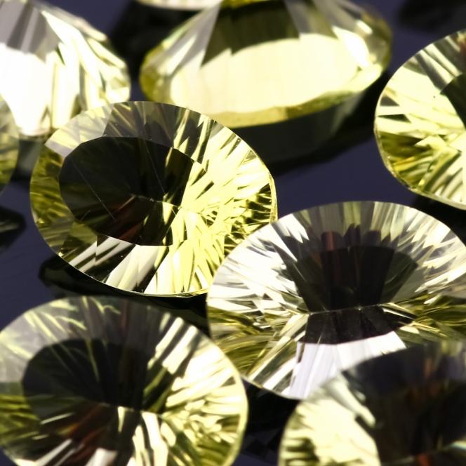 Joopy Gems Lemon Quartz Concave Cut 10x14mm Oval