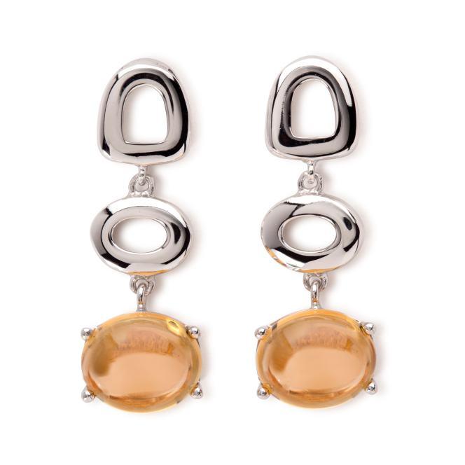 Maviada St Tropez 18k White Gold and Citrine Earrings