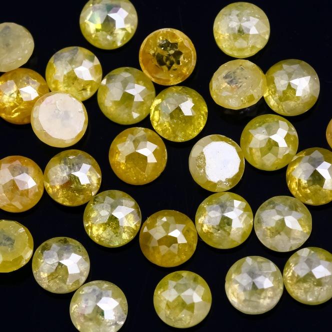 Joopy Gems Yellow Diamond 4mm Rose Cut Rond